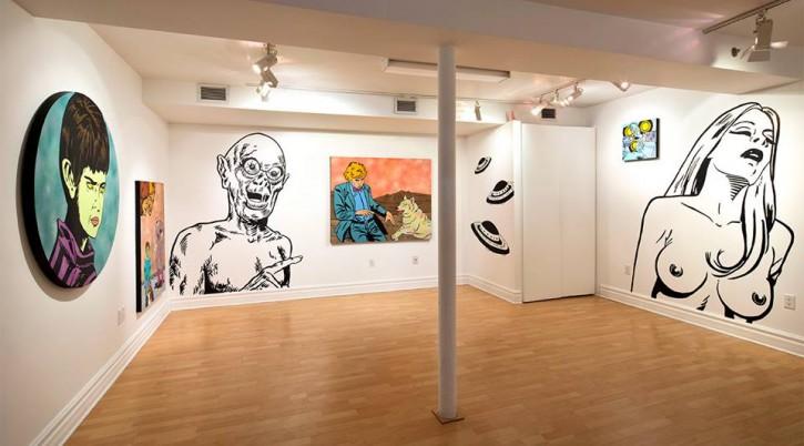 Excelsior (vue de l'exposition), Action Art Actuel (Saint-Jean-Sur-Richelieu, Qc), 2013. / Excelsior (exhibition view), Action Art Actuel (Saint-Jean-Sur-Richelieu, Qc), 2013.